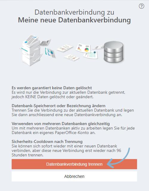 Benutzerlogin Optionen Datenbankverbindung trennen